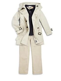 Burberry - Boy's Pique Polo Shirt