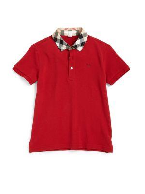 Little Boy's William Check Collar Polo