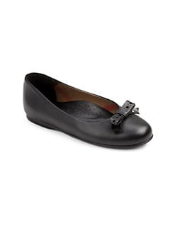 Burberry - Girl's Leather Ballet Flats