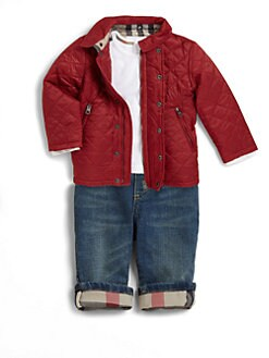 Burberry - Infant's & Toddler's Quilted Hooded Jacket