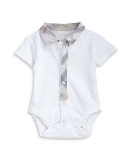 Burberry - Infant's Collared Bodysuit