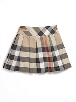 Burberry - Infant's Pleated Check Skirt