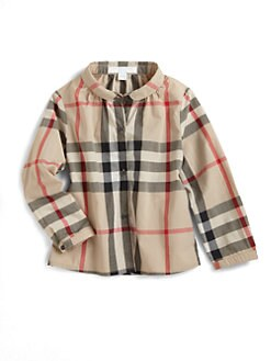 Burberry - Toddler's Poplin Check Blouse