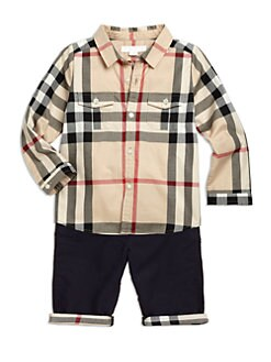 Burberry - Infant's Check Cotton Shirt