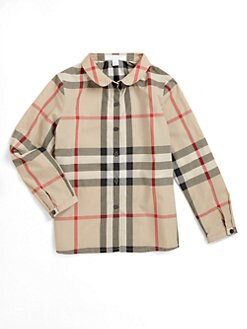 Burberry - Girl's Check Blouse