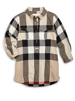 Burberry - Girl's Check Shirtdress