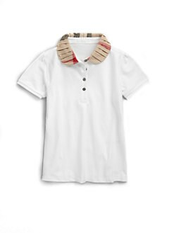 Burberry - Girl's Ruffled Collar Polo