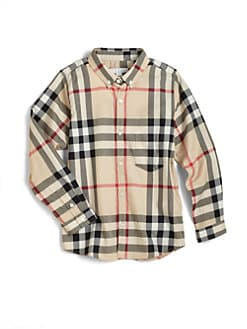 Burberry - Little Boy's & Boy's Check Oxford Shirt