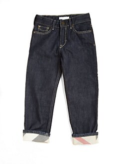 Burberry - Little Boy's & Boy's Check-Lined Jeans