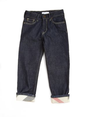 Boy's Check-Lined Jeans