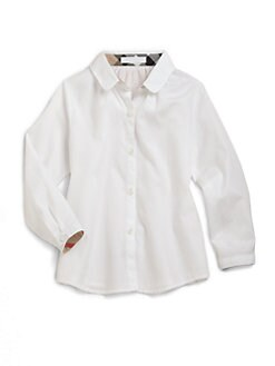 Burberry - Toddler's and Girl's Check-Lined Blouse