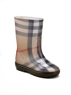 Burberry - Kid's Check Rain Boots