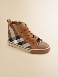 Burberry - Toddler's & Boy's Tom Check High-Top Sneakers