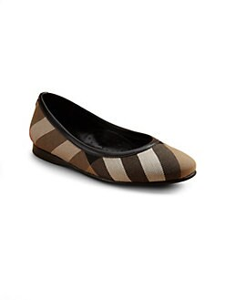 Burberry - Infant's, Toddler's & Girl's Adele Check Ballerina Flats