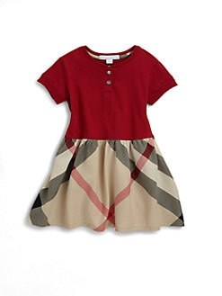 Burberry - Infant's Cotton Check Dress