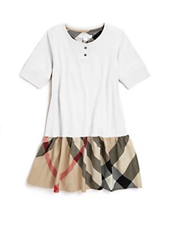 Burberry - Girl's Cotton Check Dress