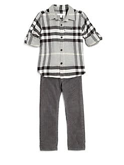 Burberry - Boy's Exploded Check Oxford Shirt