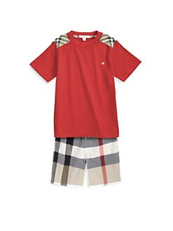 Burberry - Boy's Shoulder Patch Tee