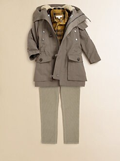 Burberry - Little Boy's 3-in-1 Faux Fur Parka