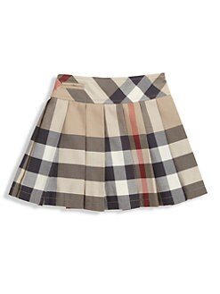 Burberry - Toddler's Pleated Check Skirt