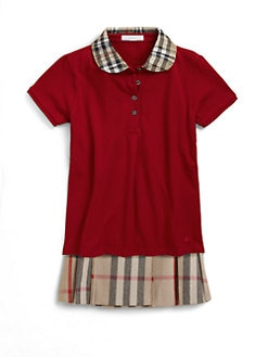 Burberry - Little Girl's Ruffled Collar Polo