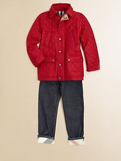 Burberry - Little Boy's Diamond-Quilted Jacket