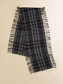 Burberry - Kid's Check Cashmere & Wool Scarf