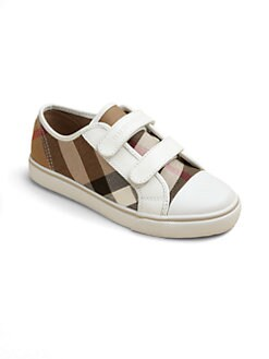 Burberry - Boy's Pete Low-Top Canvas Sneakers