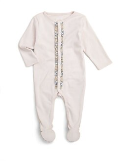 Burberry - Infant's Ruffle-Trimmed Footie