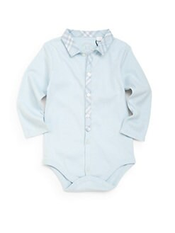 Burberry - Infant's Check-Trimmed Bodysuit