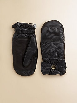 Burberry - Girl's Bow Puffer Mittens