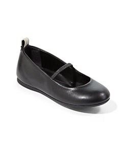 Burberry - Toddler's Leather Ballerina Flats