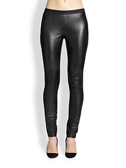 Eileen Fisher - Leather/Ponte Leggings