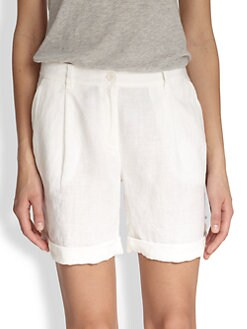 Eileen Fisher - Rolled Linen Shorts