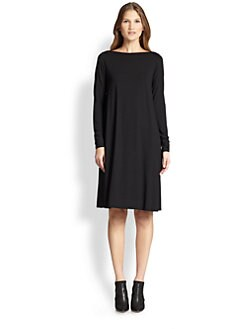 Eileen Fisher - Jersey Boatneck Dress