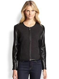 Eileen Fisher - Merino & Leather Jacket