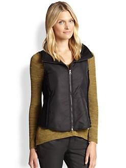 Eileen Fisher - Wool-Blend Parka Vest