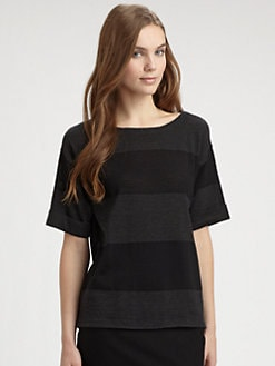 Eileen Fisher - Merino Wool Boatneck Sweater