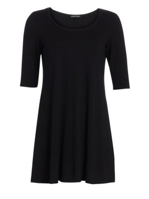 Jersey Scoopneck Tunic by Eileen Fisher