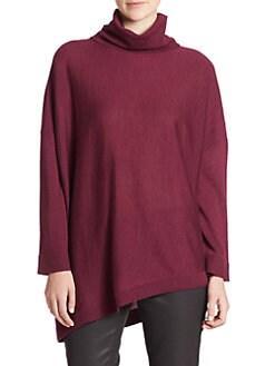 Eileen Fisher - Wool Asymmetrical Turtleneck Sweater