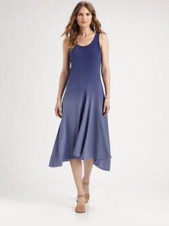 Eileen Fisher - Silk Dropped-Waist Dress