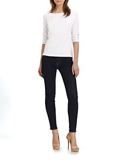 Eileen Fisher - Linen Ballet-Neck Top
