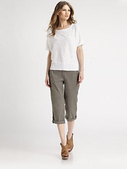 Eileen Fisher - Linen/Cotton Slub Tee
