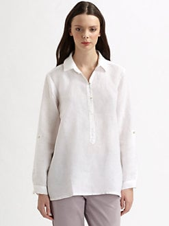 Eileen Fisher - Irish Linen Pullover Blouse