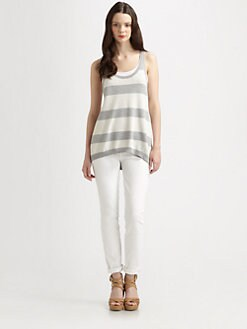 Eileen Fisher - Wide-Striped Tank Sweater