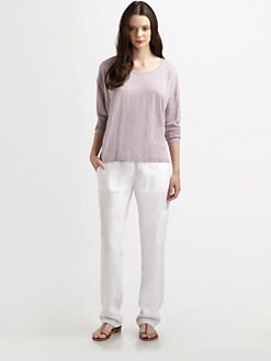 Eileen Fisher - Slub Long-Sleeved Linen Tee