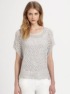 Eileen Fisher - Sequin-Mesh Crop Top