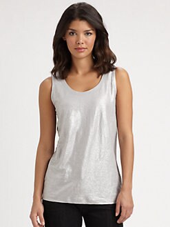 Eileen Fisher - Shimmering Linen Wedge Top