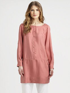 Eileen Fisher - Silk Twill Shirtdress