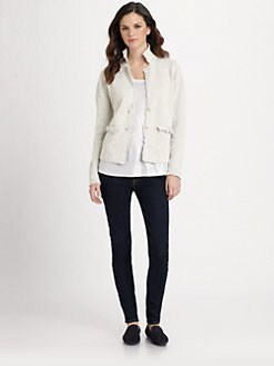Eileen Fisher - Cotton/Metallic Ribbed Jacket